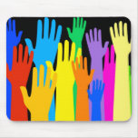 Colourful Hands Mouse Pad