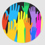 Colourful Hands Stickers