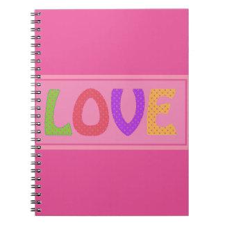 COLOURFUL HAPPY LOVE POLKA DOTS CUTE GIRLY FUN NOTEBOOK
