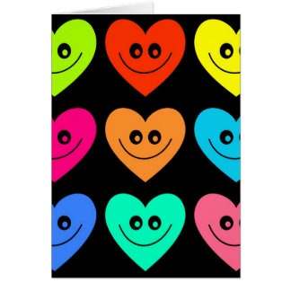 Colourful Heart Greeting Card