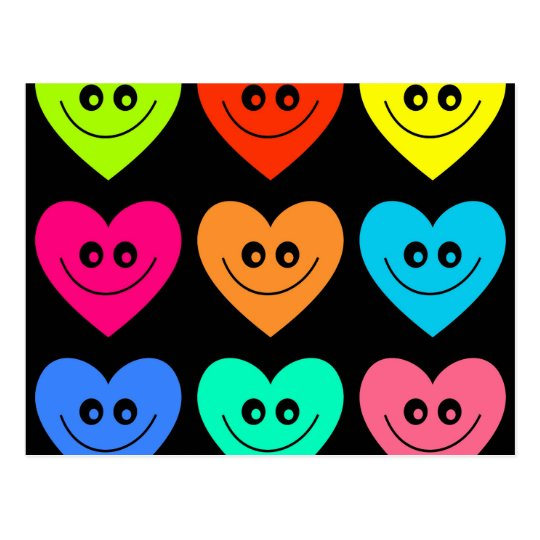 Colourful Heart Postcard