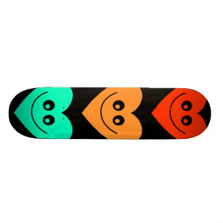 Colourful Heart Skateboard Deck
