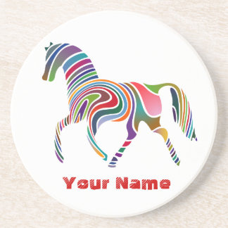 Colourful Horse - Custom Coaster / Untersetzer