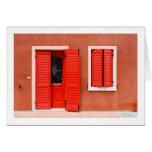 Colourful House Facade, Caorle, Italy Cards
