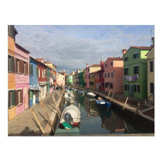 Colourful Houses in Murano, Venice Postcard