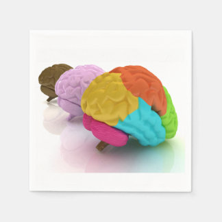 Colourful Human Brains Paper Napkins