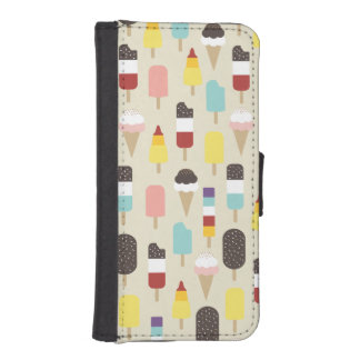 Colourful Ice Lollies & Frozen Treats Pattern iPhone SE/5/5s Wallet