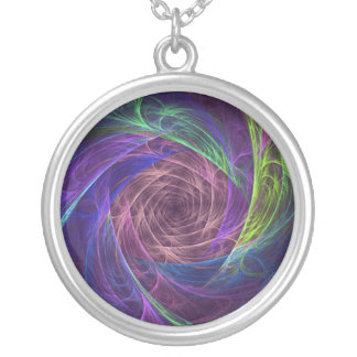 colourful-infinity silver plated necklace