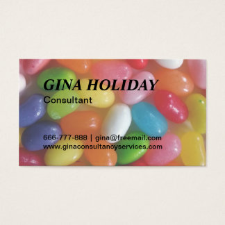 Colourful jelly beans candy business card