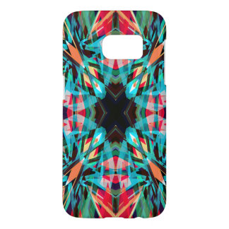 Colourful kaleidoscope pattern samsung galaxy s7 case