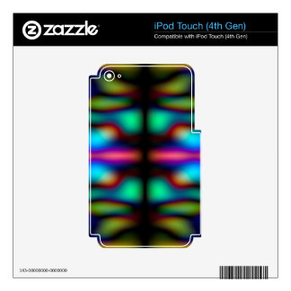 Colourful kaleidoscope pattern skin for iPod touch 4G