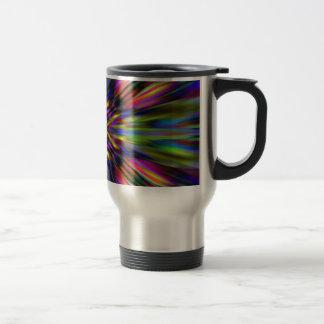 Colourful kaleidoscope starburst travel mug
