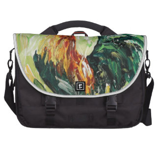 Colourful Keith the RoosterRooster Laptop Messenger Bag