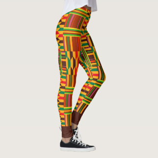 Colourful Kente Leggings