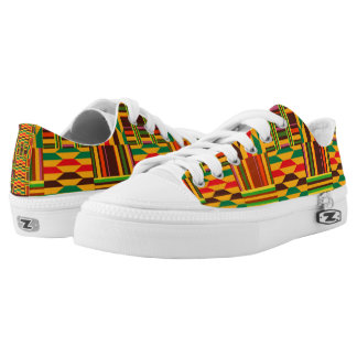 Colourful Kente Printed Shoes