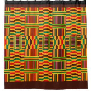 Colourful Kente Shower Curtain