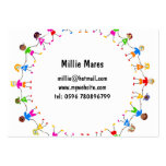 Colourful Kids Large Business Card
