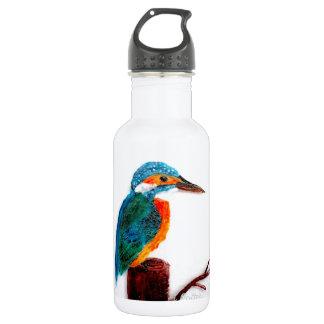 Colourful Kingfisher Bird Art Stainless Steel Water Bottle