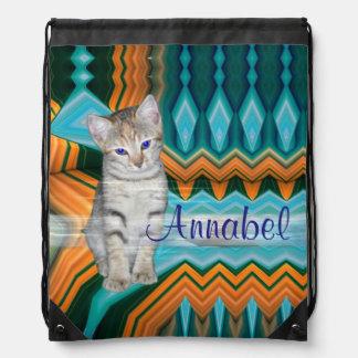 Colourful Kitten Matrix Backpack Bag