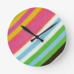 Colourful knitted background wallclock
