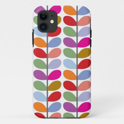 Colourful Leaf Pattern Phone Case