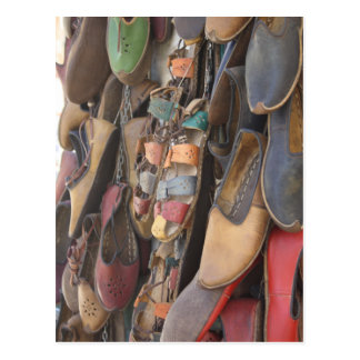 Colourful Leather Hand Crafted Sandals Postcard