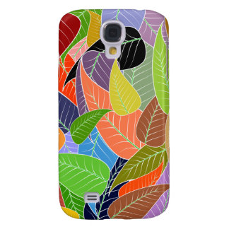 colourful leaves samsung galaxy s4 cover