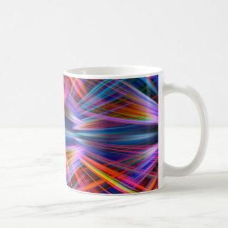Colourful light beams pattern coffee mug