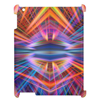 Colourful light beams pattern cover for the iPad