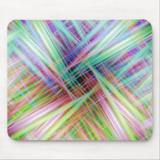 Colourful light trails pattern mouse pad
