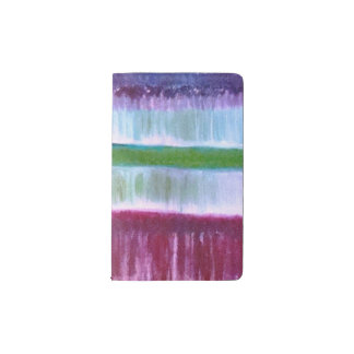 colourful lines pocket moleskine notebook cover with notebook