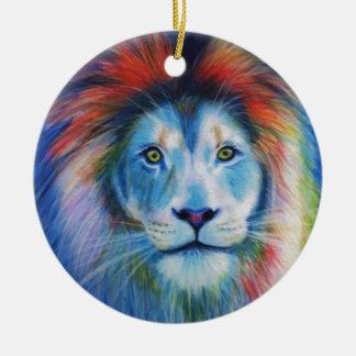 Colourful Lions Ceramic Ornament