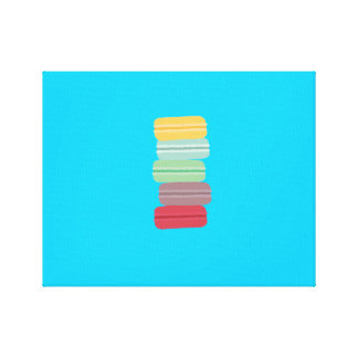 colourful macarons canvas print