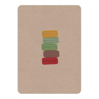 colourful macarons card