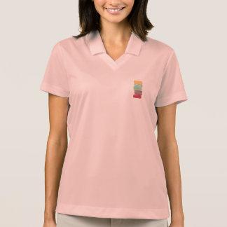 colourful macarons polo shirt