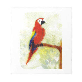 Colourful Macaw Bird Art Notepad