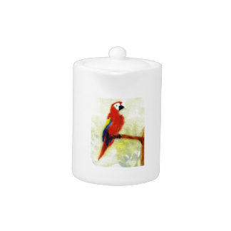 Colourful Macaw Bird Art Teapot