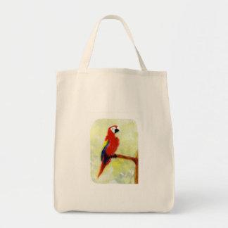 Colourful Macaw Bird Art Tote Bag