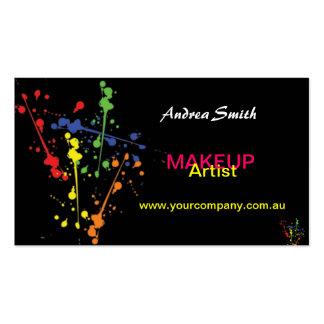 Colourful Makeup Artist Business Card