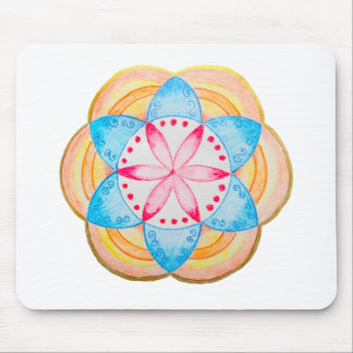 Colourful Mandala Flower Hand Painted Mouse Pad