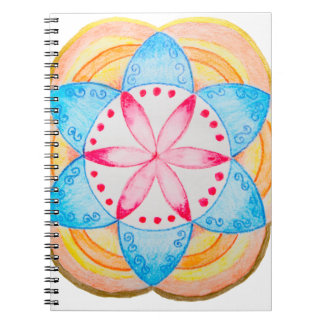 Colourful Mandala Flower Hand Painted Note Book