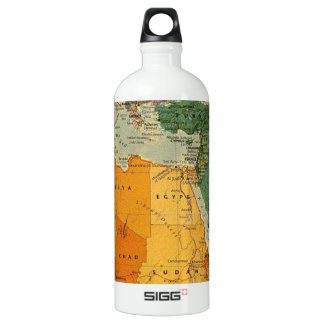 Colourful map cool aluminum water bottle