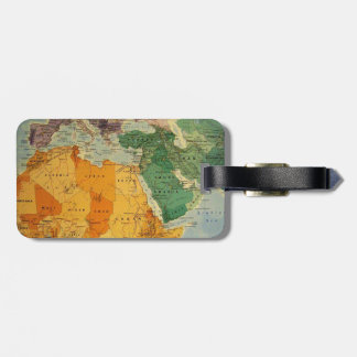 Colourful map cool luggage tag