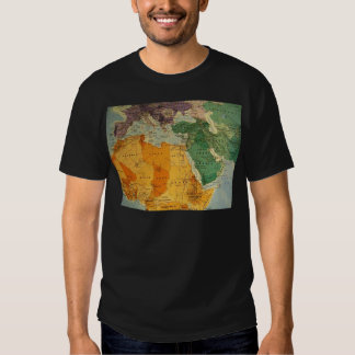 Colourful map cool t shirt