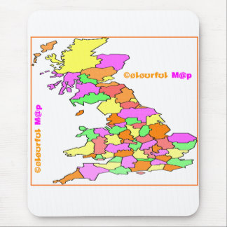 colourful map mouse pad
