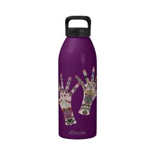 Colourful Mehndi hand Drinking Bottles