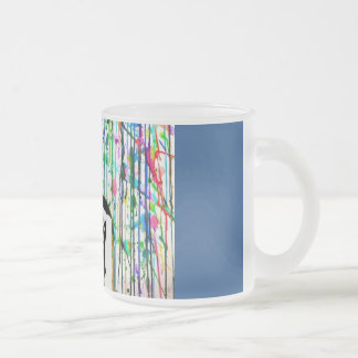 Colourful memories 10 oz frosted glass coffee mug