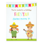 Colourful Mexican Fiesta Kids Birthday Invitations