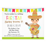 Colourful Mexican Fiesta Kids Birthday Party Custom Invitations