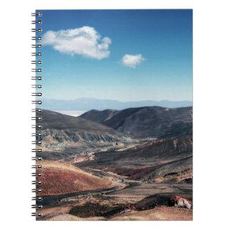 Colourful Mountain Valleys Around Salt Flats Spiral Notebook